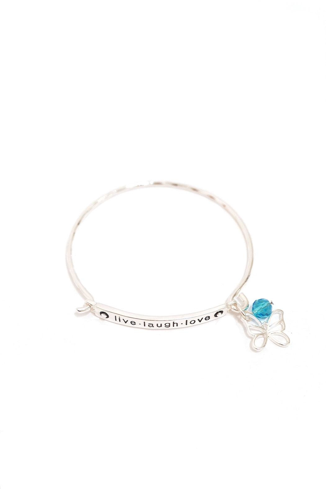 Periwinkle by Barlow Live.Laugh.Love Bracelet - Front Cropped Image