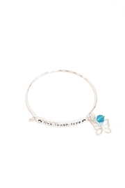 Periwinkle by Barlow Live.Laugh.Love Bracelet - Front cropped