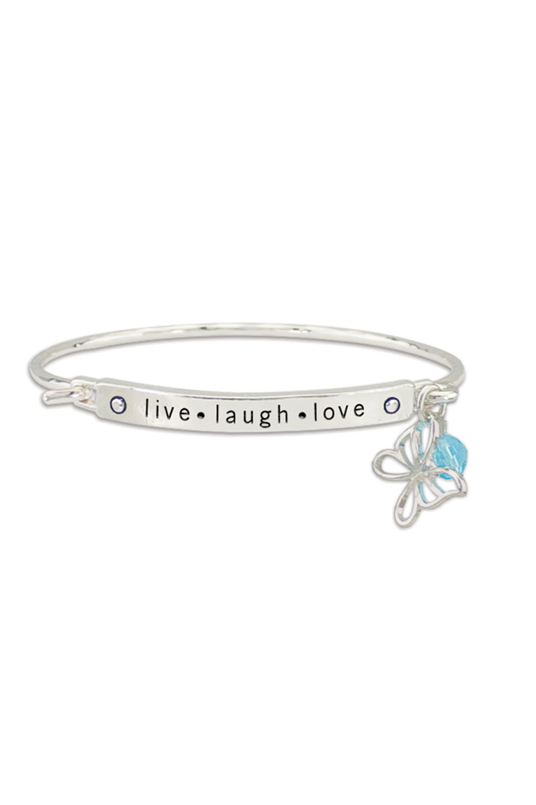 Periwinkle by Barlow Live.Laugh.Love Bracelet - Front Full Image