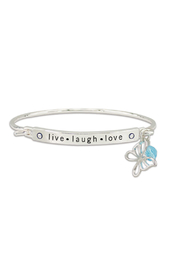 Periwinkle by Barlow Live.Laugh.Love Bracelet - Product Mini Image