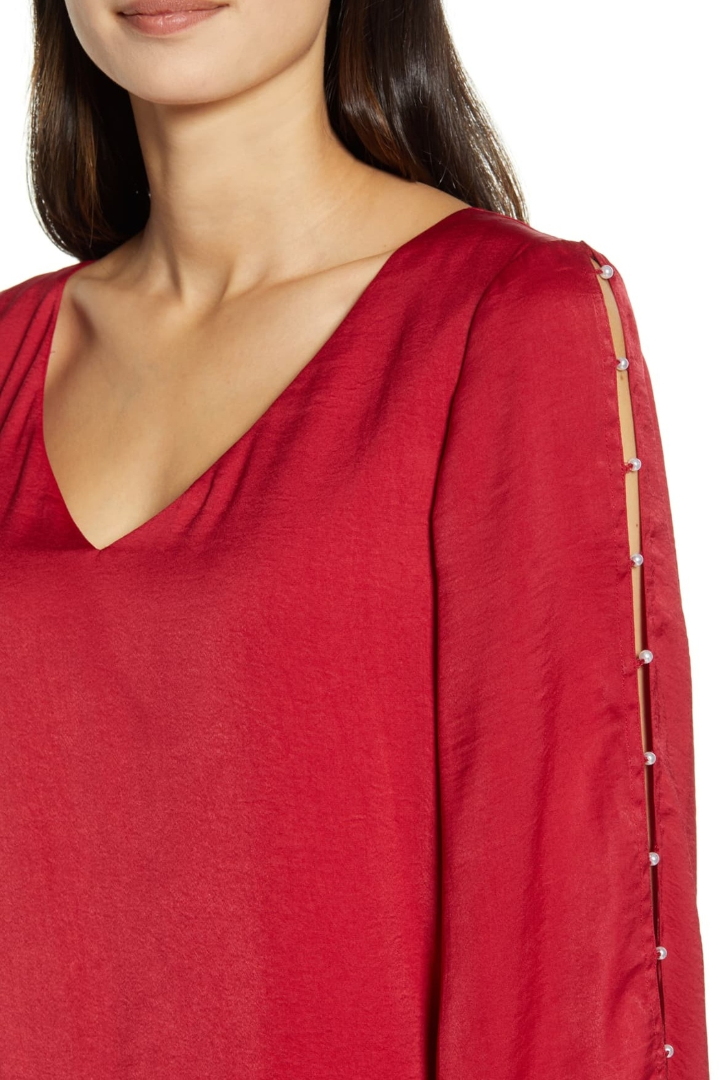 Cupcakes & Cashmere Perlata Blouse - Back Cropped Image