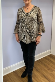 PerSeption Concept Leopard Print Blouse - Front cropped