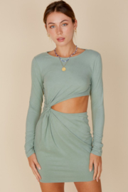 blue blush Persia Side Cut Out Dress - Product Mini Image