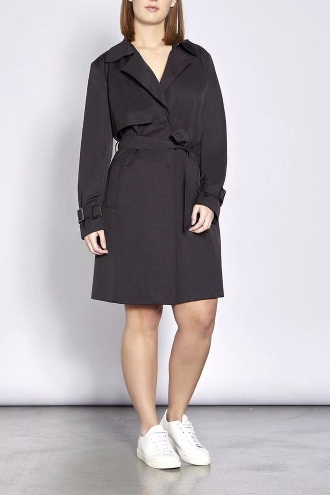 Persona by Marina Rinaldi Classic Waterproof Trenchcoat - Front Cropped Image