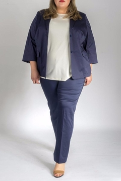 Persona by Marina Rinaldi Elegant Cotton Blazer - Product List Image