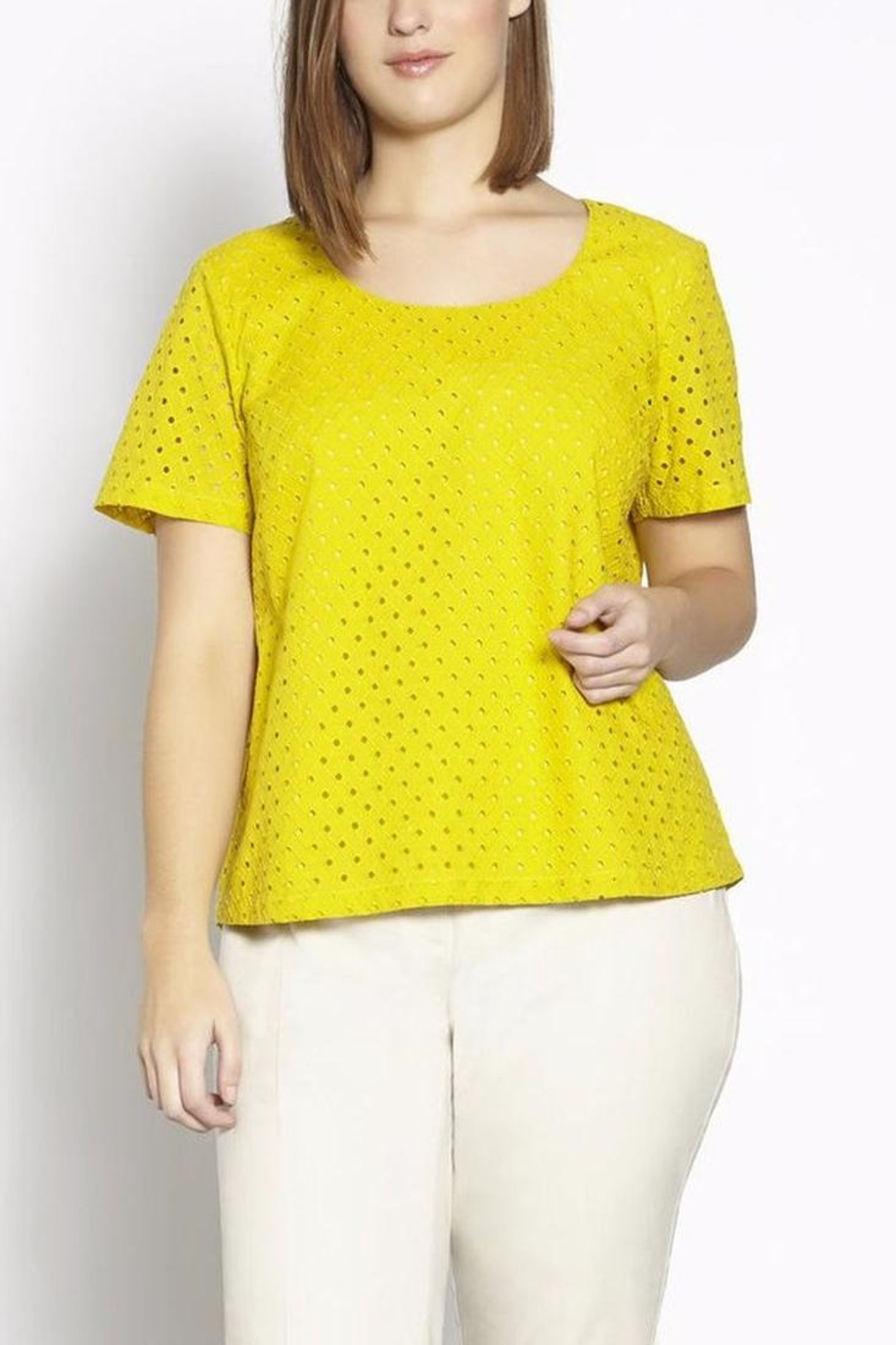 Persona by Marina Rinaldi Summer Cotton Top - Front Cropped Image