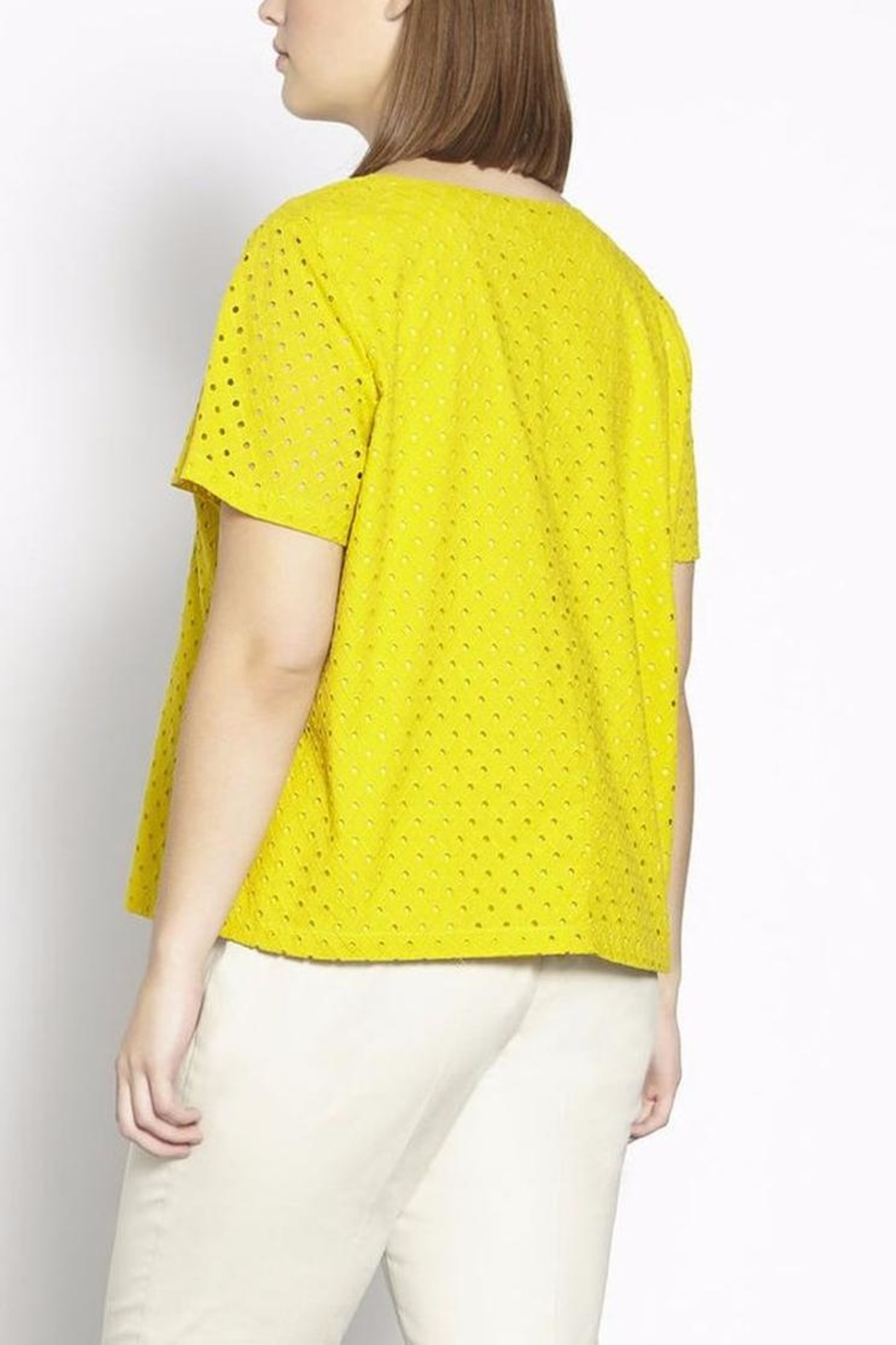 Persona by Marina Rinaldi Summer Cotton Top - Front Full Image