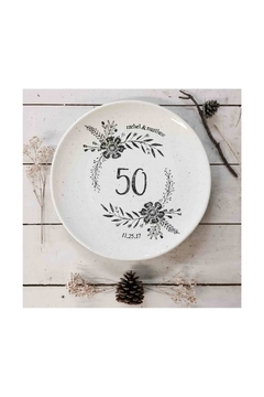 Museware Pottery Personalized Anniversary Platter - Alternate List Image