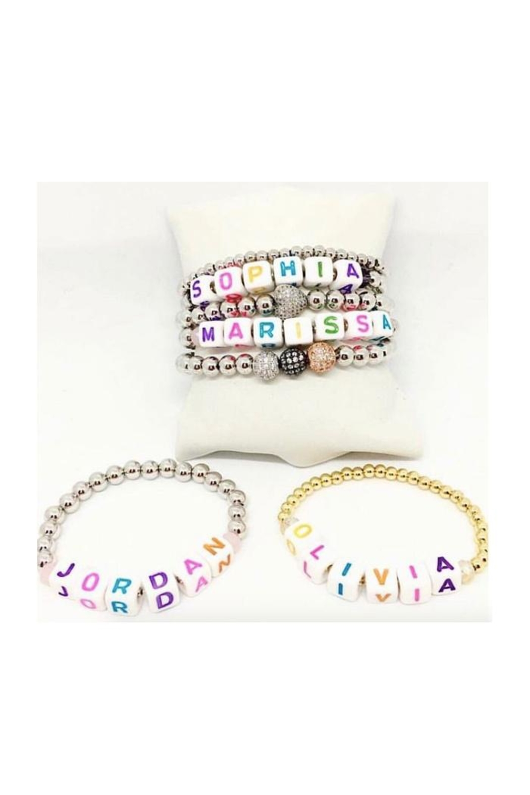 Lets Accessorize Personalized Bead Bracelets - Front Cropped Image