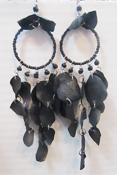 Shoptiques Product: Peruvian Black Fish Scale Earring