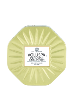 Voluspa Peruvian Lime Jardin Octagon Tin Candle - Product List Image