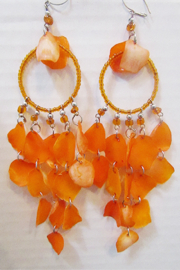 KIMBALS Peruvian  Orange Fish Scale Earring - Product Mini Image