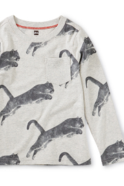 Tea Collection Peruvian Panther Printed Tee With Rib Pocket - Side cropped