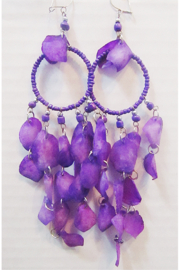 KIMBALS Peruvian Purple Fish Scale Earring - Product Mini Image