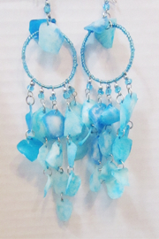 KIMBALS Peruvian Turquoise Fish Scale Earring - Product Mini Image
