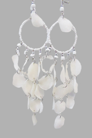 KIMBALS Peruvian White Fish Scale Earring - Product Mini Image