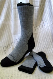 Peruvian Link Socks, Hiker Pl - Front cropped