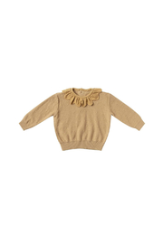 Quincy Mae Petal Knit Sweater - Honey - Front cropped