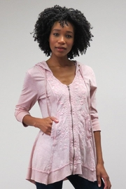 Caite Petal Pink Hoodie - Front cropped