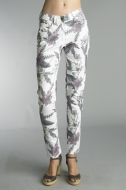 Tempo Paris Petal Print Jeans - Product Mini Image