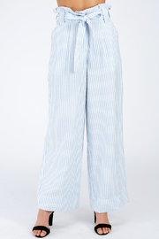 Petalroz Blue Pinstriped Pants - Product Mini Image