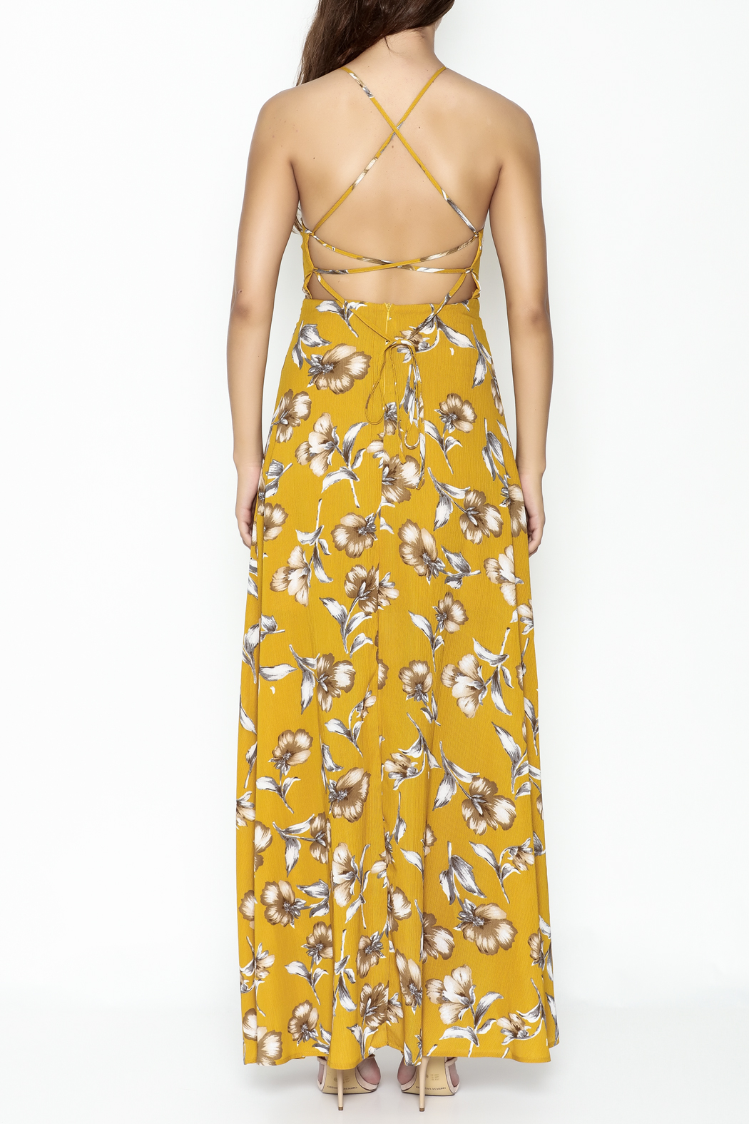 Petalroz Floral Print Maxi - Back Cropped Image