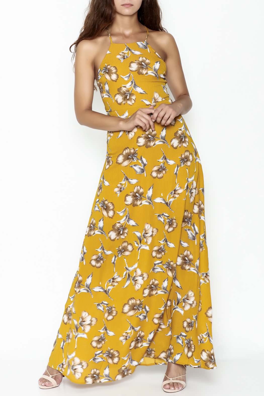 Petalroz Floral Print Maxi - Front Cropped Image
