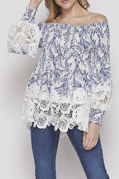 Shoptiques Product: Lace Printed Blouse