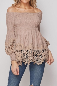 Shoptiques Product: Off-Shoulder Lace Top