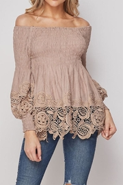 Petalroz Off-Shoulder Lace Top - Product Mini Image