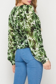 Petalroz Printed Knot Blouse - Back cropped
