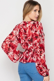 Petalroz Printed Knot Blouse - Side cropped