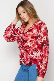 Petalroz Printed Knot Blouse - Front full body