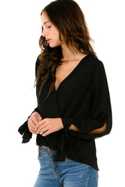 Petalroz Tie-Cuff Sleeve Blouse - Front full body