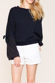 Petalroz Tie Sleeve Sweater - Front cropped
