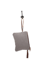 Myra Bags Petals on Olive Wristlet - Front full body