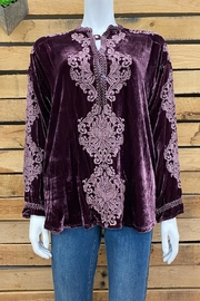 Pete & Greta Siriki Velvet Blouse - Product Mini Image
