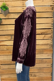 Pete & Greta Siriki Velvet Blouse - Front full body