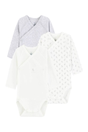 Petit Bateau  Baby Birth Long Sleeved Bodysuits (Pack of 3) - Product Mini Image