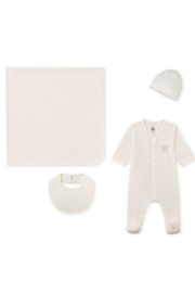 Petit Bateau Baby Gift Unisex Layette Set - Great Baby Shower Gift - Side cropped