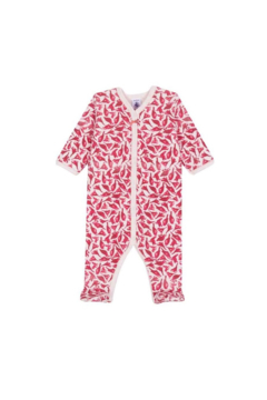 Petit Bateau Baby Girl Bird Print Mia Pajama - Alternate List Image