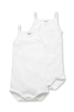 Petit Bateau Shop  Baby Girl Bodysuit With Straps at Little Loungers for a special discount - Alternate List Image