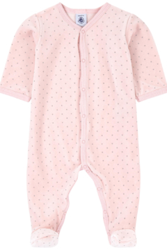 Petit Bateau Baby Pink Pajamas - Infant Sleepers - Product List Image