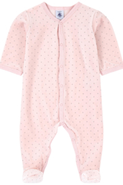 Petit Bateau Baby Pink Pajamas - Infant Sleepers - Front cropped