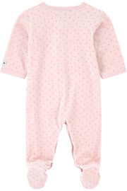 Petit Bateau Baby Pink Pajamas - Infant Sleepers - Front full body