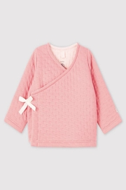 Petit Bateau  Baby Quilted Crossover Cardigan - Product Mini Image