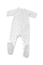 Petit Bateau  Baby Side Snap Bunny Print Footie - Back cropped