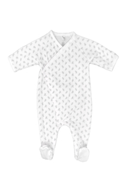 Petit Bateau  Baby Side Snap Bunny Print Footie - Product Mini Image