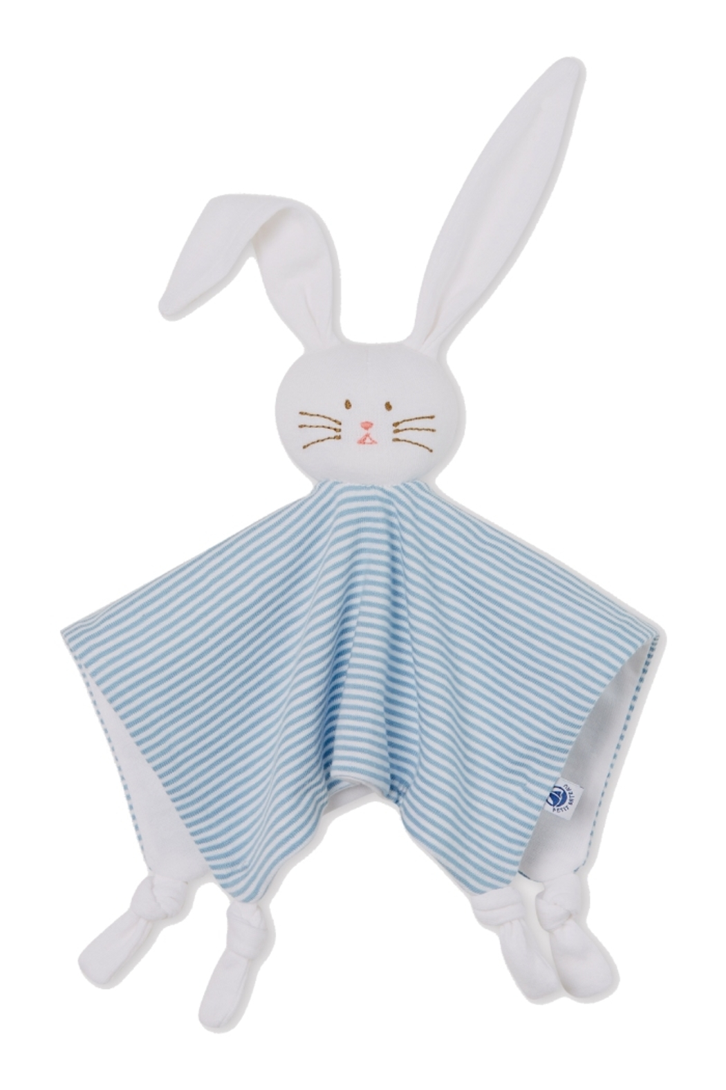Petit Bateau  Baby Stuff Comforter Bunny Toy - Front Cropped Image