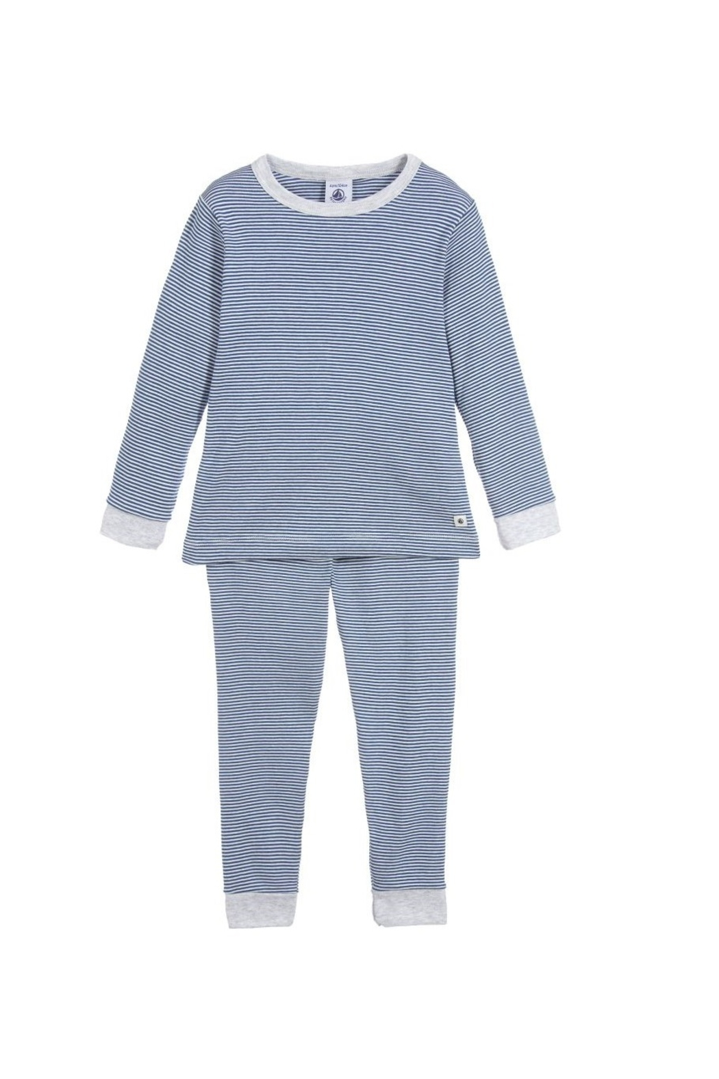 Petit Bateau Boys Pajamas - Milleraies striped knit - Main Image